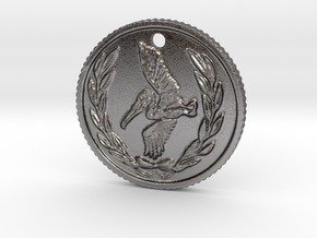 Resident evil 7 biohazard coin necklace  in Polished Nickel Steel