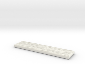 Wood Grain Slab II in White Strong & Flexible