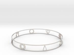 Pokemon Kanto Badge Bracelet in Rhodium Plated Brass