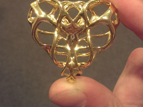 Heart for Love in Polished Gold Steel