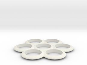 Fidget Spinner  in White Natural Versatile Plastic