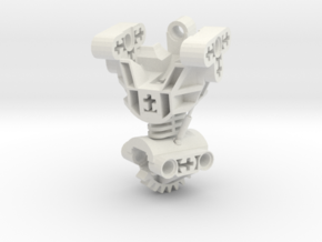Articulated Bionicle Toa Mata Torso in White Strong & Flexible