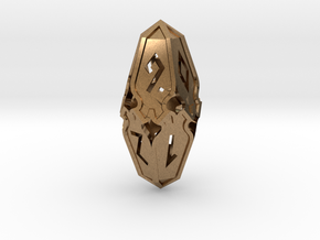 Amonkhet D10 Spindown Life Counter - Small, in Natural Brass