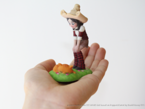 Pepper & Carrot Figurine in Full Color Sandstone