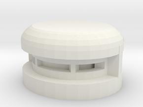 Single Pill Box in White Natural Versatile Plastic