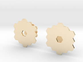 James Webb Space Telescope Cuff Links in 14k Gold Plated Brass