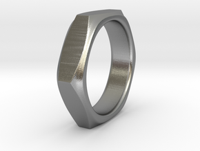 Barbara - Nut Ring in Natural Silver: 6 / 51.5