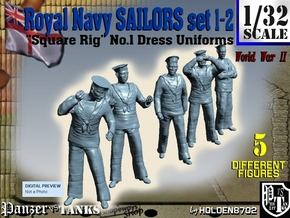 1-32 Royal Navy Sailors Set1-2 in Frosted Ultra Detail
