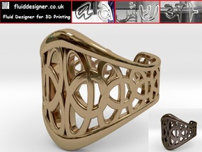 Celtic Knot Ring 3-Leaf (1) in Polished Brass
