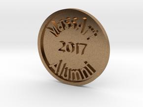 Massart alumni token in Raw Brass