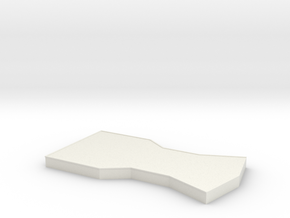 Bridge - Center Platform 30 in White Natural Versatile Plastic