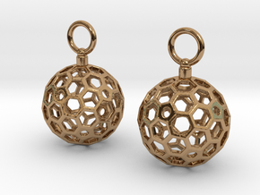 Light Ball Drop Earrings in Polished Brass