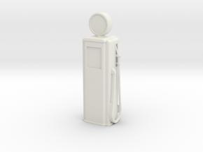 Tokheim 39 Gas Pump, 1/32 Scale in White Natural Versatile Plastic
