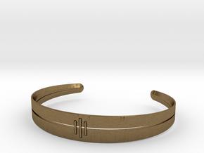 Stitch Bracelet in Natural Bronze: Small
