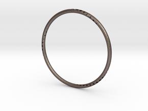 Orbit Bracelet in Polished Bronzed Silver Steel: Small