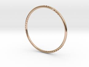 Orbit Bracelet in 14k Rose Gold Plated Brass: Small
