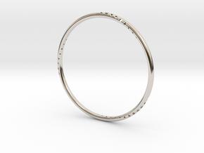 Orbit Bracelet in Rhodium Plated Brass: Small