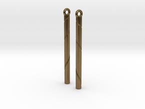 Ribbon Earrings in Natural Bronze