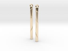 Ribbon Earrings in 14k Gold Plated Brass