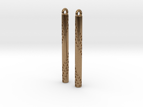 Bubbles Earrings in Natural Brass