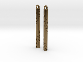 Bubbles Earrings in Natural Bronze