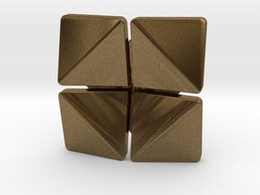Box Flower Pendant in Natural Bronze