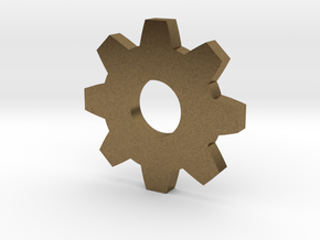 Gear Pendant in Natural Bronze