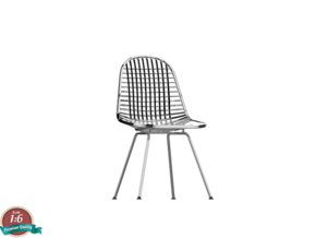 Miniature Eames DKX Wire Chair - Charles Eames in White Natural Versatile Plastic