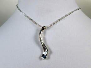 Collarbone (Clavicle) Pendant in Polished Silver