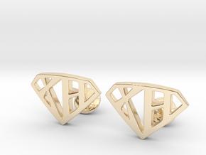 XH Cufflinks in 14k Gold Plated Brass