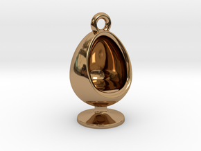 60s Inspired Series- Egg Chair Charm in Polished Brass