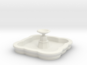 Medium N/OO Scale Fountain in White Natural Versatile Plastic: 1:76 - OO