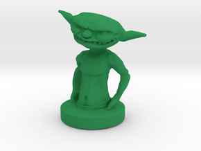 Goblin Gamepiece in Green Strong & Flexible Polished