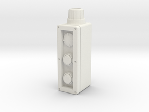 Industrial control box 1:4 scale in White Natural Versatile Plastic