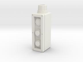 Industrial control box 1:4 scale in White Natural Versatile Plastic