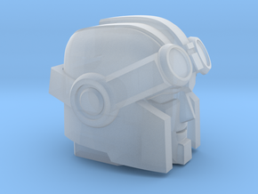 Whiny Hauler's Head on a Tank in Smooth Fine Detail Plastic