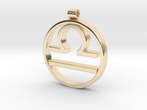 Libra Zodiac Sign Pendant in 14k Gold Plated