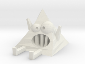 Crazy Pyramid | Monster Toy in White Natural Versatile Plastic