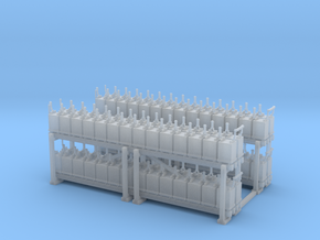 NYC - Battery Rack - HO (2X) in Smooth Fine Detail Plastic