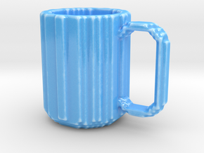 Pixel Mug / Voxel Mug in Gloss Blue Porcelain