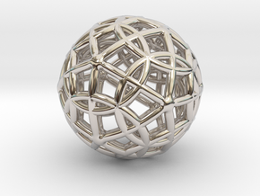 Spherical Icosahedron with Dodecasphere in Platinum