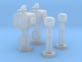 1/144 USN Torpedo Directors & Peloruses Set in Frosted Ultra Detail