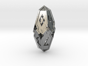 Amonkhet D10 gaming die - Small, hollow in Natural Silver