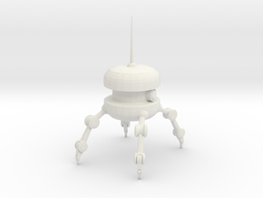 Burger Spy Bot  in White Natural Versatile Plastic: Small