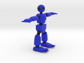Robot Character Cartoon Bot in Full Color Sandstone