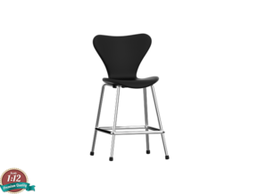 Miniature 7 Series 3197 Chair - Barstool in White Strong & Flexible