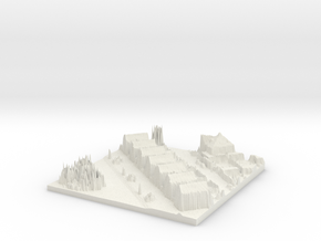 Bergschenhoek City Map, Jan Steenlaan in White Natural Versatile Plastic