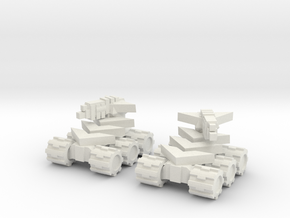 Rim Bastion Mini Tank Pair in White Natural Versatile Plastic