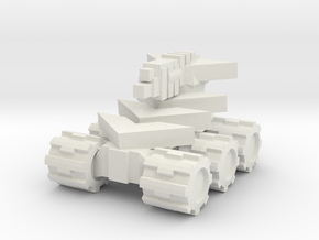 Rim Bastion Mini Tank in White Natural Versatile Plastic