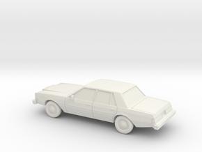 1/87 1980-83 Dodge Diplomat Sedan in White Natural Versatile Plastic